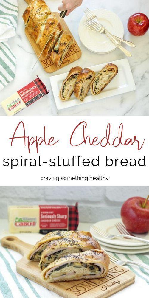Apple Cheddar Spiral stuffed bread - Craving Something Healthy...