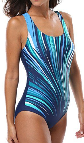 cc73b5b3ee CharmLeaks Womens One Piece Swimsuit Swimsuits swimsuit white womens  swimsuits cute Medium Blue     You can find more details by visiting the  image link.