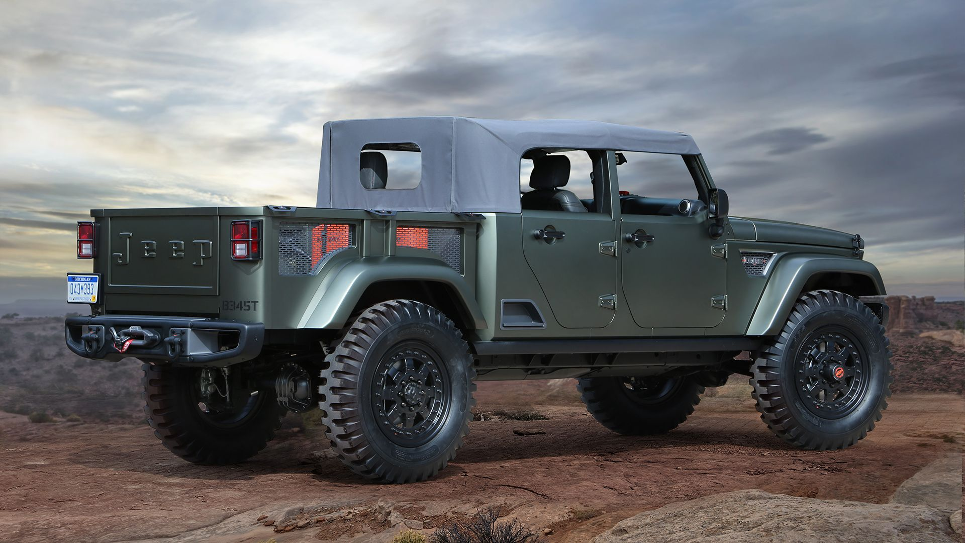 2019 Jeep Wrangler Pickup Truck To Feature Convertible Soft Top Report Says Jeep Concept Jeep Wrangler Pickup Wrangler Pickup