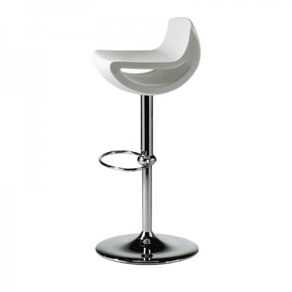 Ciao Low Back Bar Stool Modern White Stylish Metal Restaurant Hotel Cafe