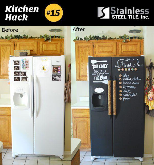Kitchen Paint Type: Paint Refrigerator, Refrigerator Makeover
