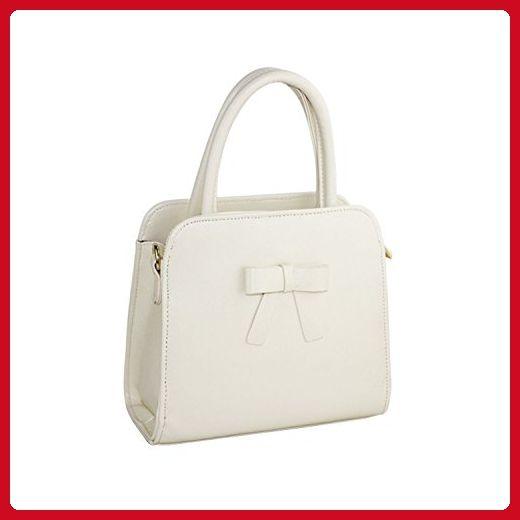 Wendishan Women's Bowknot Tote Handbag Shoulder Messenger Bag Beige - Totes (*Amazon Partner-Link)