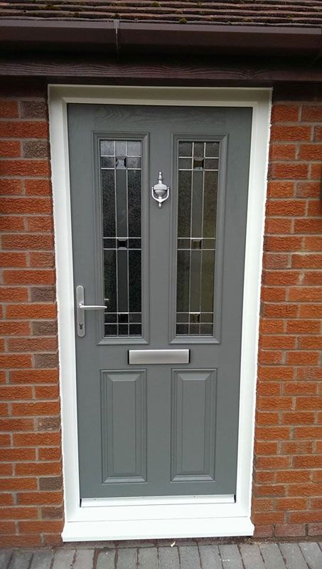 Grey front door home decor pinterest front doors for Upvc french doors grey
