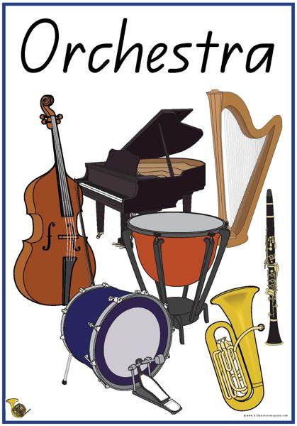 31 Instruments of the Orchestra Vocabulary Words | Esl