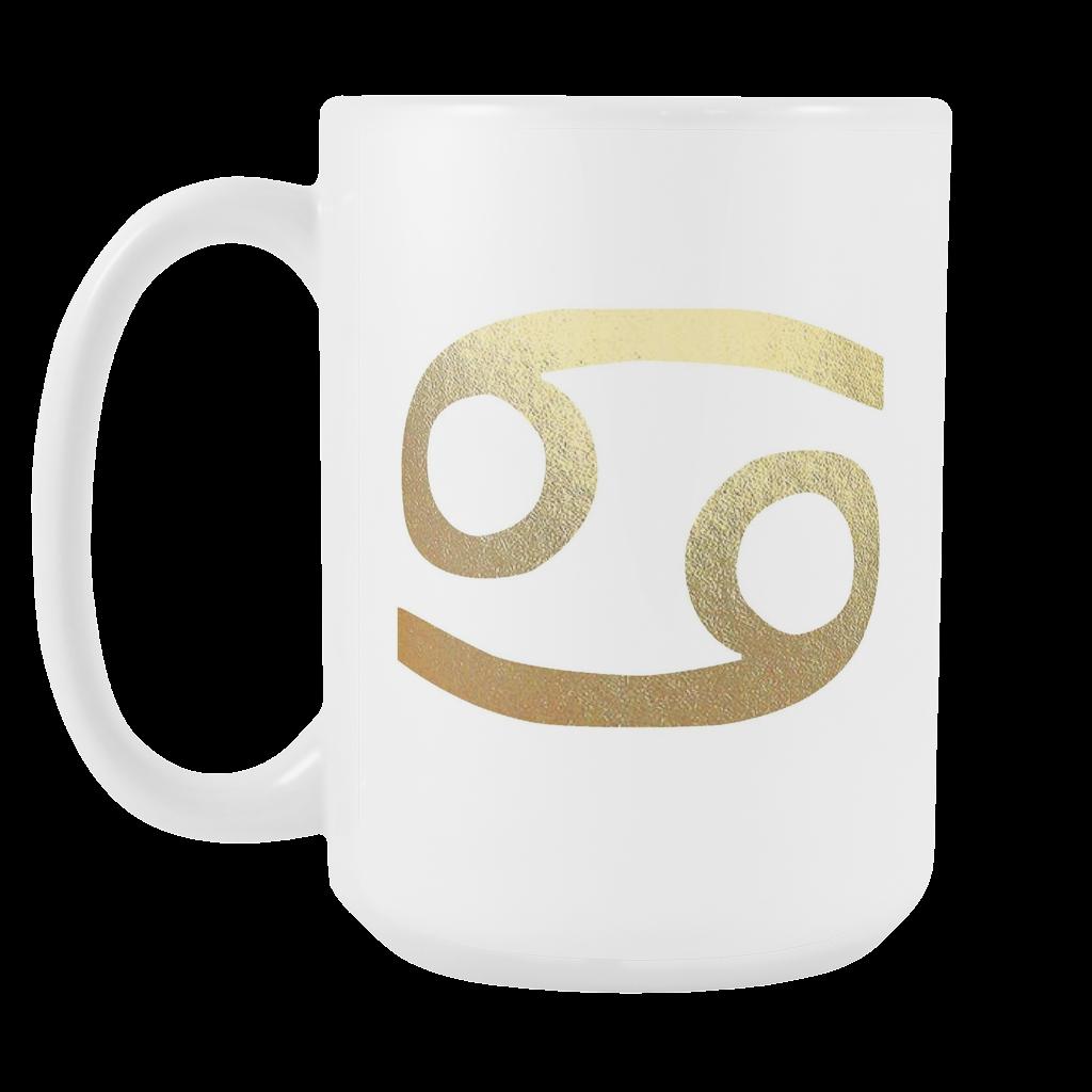 Cancer Gold Sign 15oz White Mug