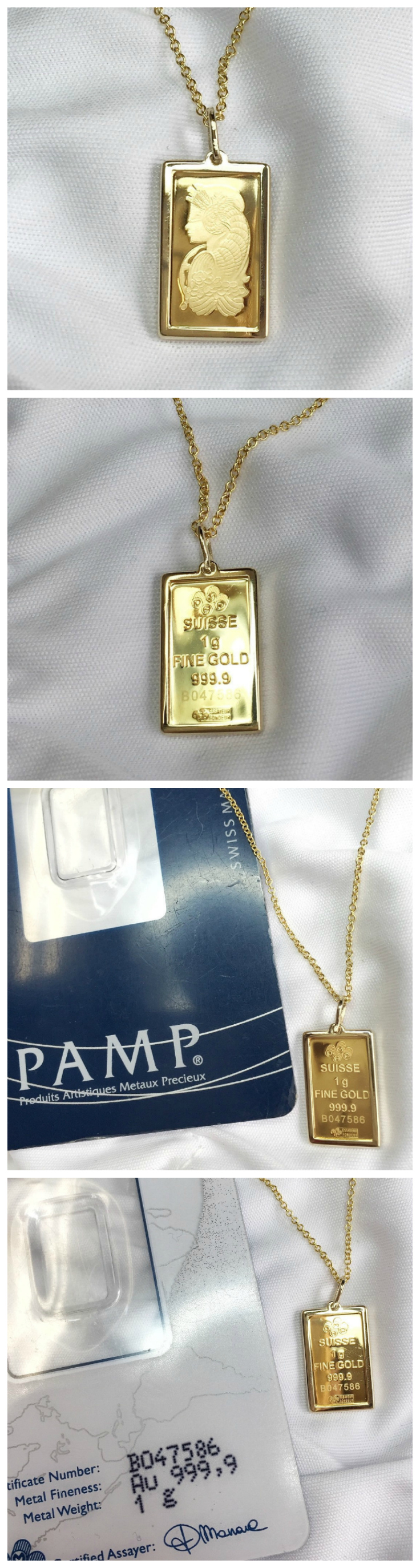 This Beautifully Designed And Affordable Lady Fortuna 24k Gold 1 Gram Gold Bar Is Mounted In Uniquely Designed Elegant 14k Gol 14k Gold Chain Gold Gold Bullion