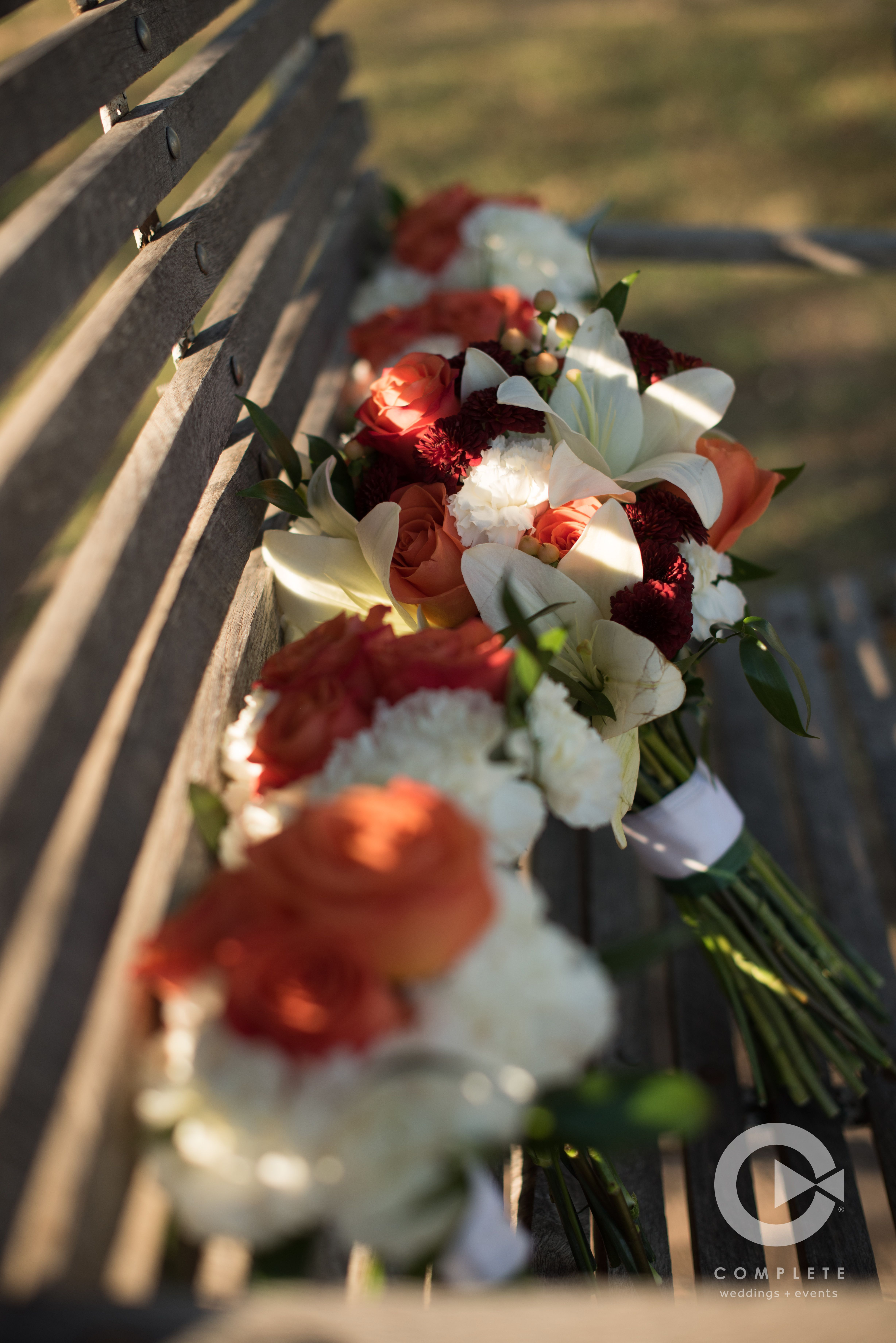 Fall Coral Maroon White Wedding Flowers, Bouquet | Photography ...