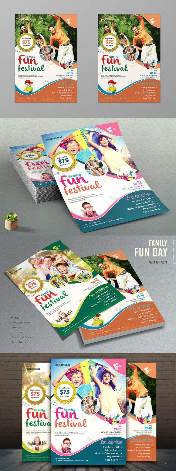 family fun day flyer template event flyer pinterest flyer