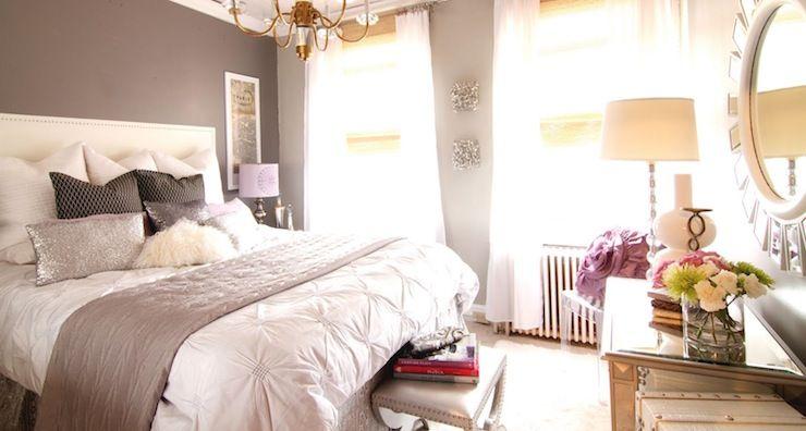 West Elm Pin-Tuck Duvet Gray Walls White