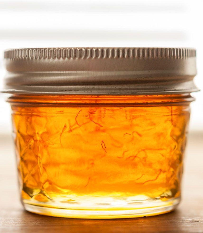 Saffron Vanilla Infused Honey Saffron Recipes Saffron Honey
