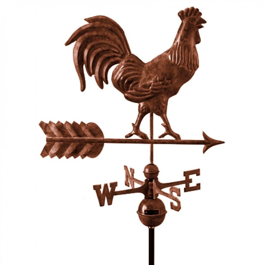 weather vanes home u203a u203a farmhouse u203a rooster bronze - Weather Vanes