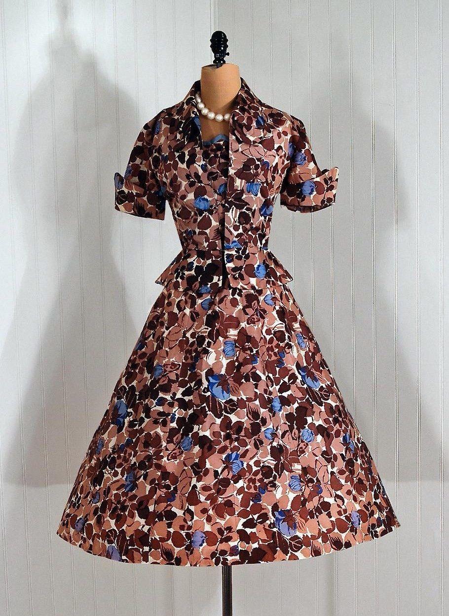 Vintage s dress with jacket vintage vault pinterest
