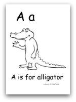 A Is For Alligator Printable Color Pages Abc Worksheets