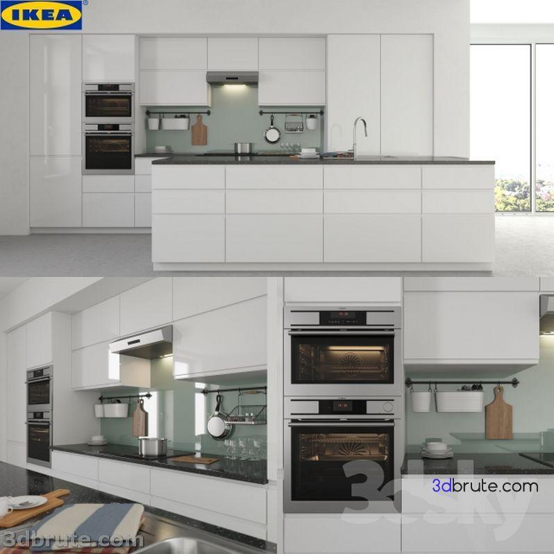 199 Kitchen 3dmodel Download 3d Models Free 3dbrute Kitchendesign3dmodelfreedownload Ikea Kitchen Island Ikea Kitchen Kitchen Cabinets And Countertops