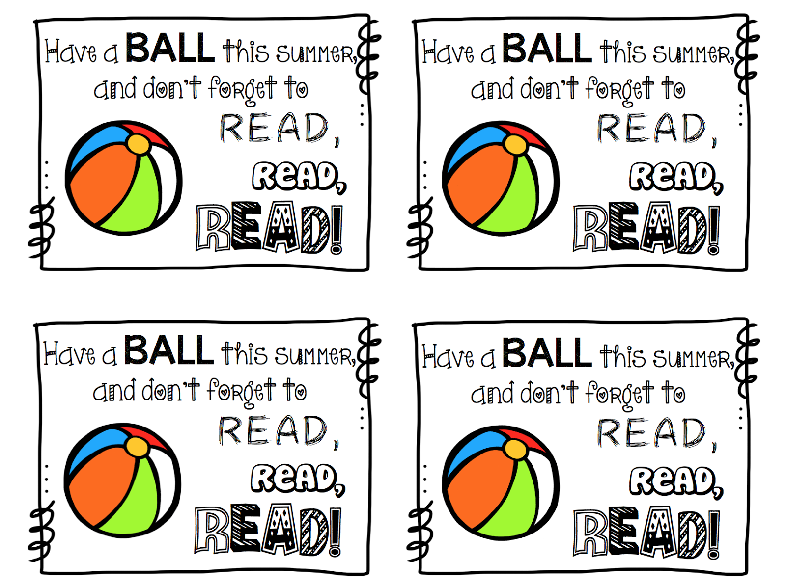 It's just an image of Vibrant Have a Ball This Summer Printable
