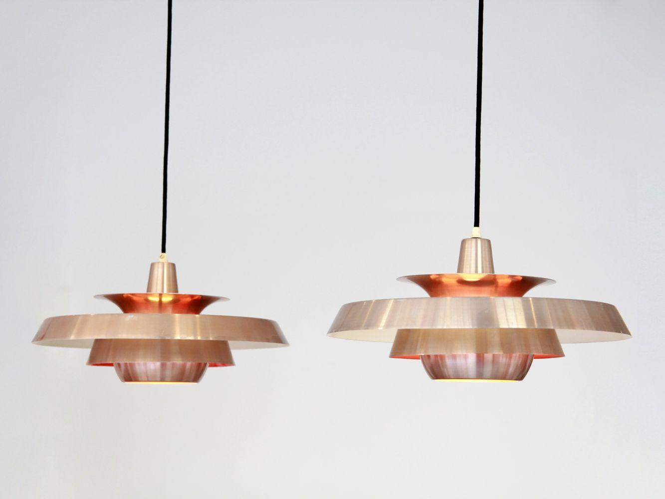 For Sale Set Of 2 Copper Danish Design Lamps Lamp Design