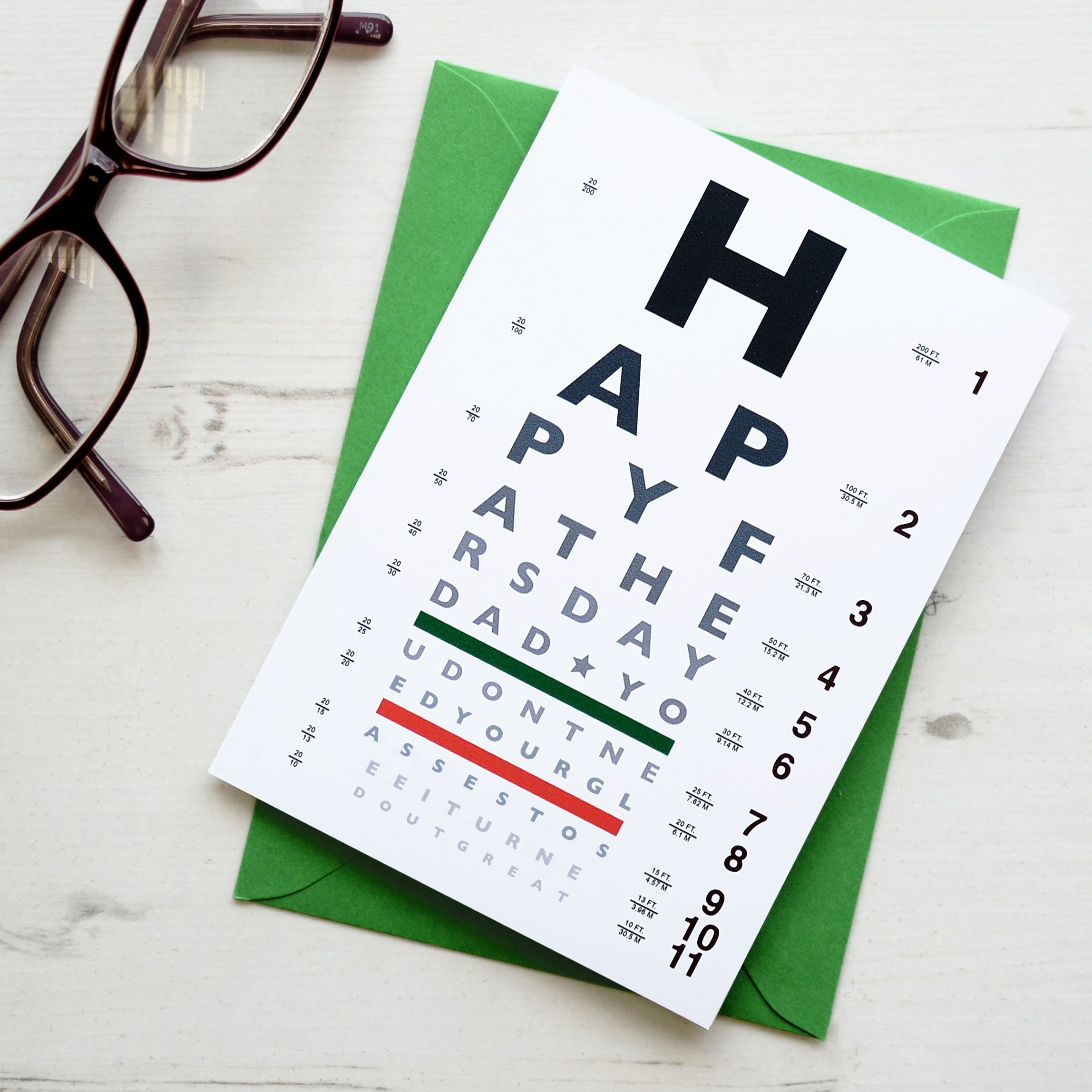 Fathers Day Funny Eye Chart Card Gift Ideas Pinterest Chart