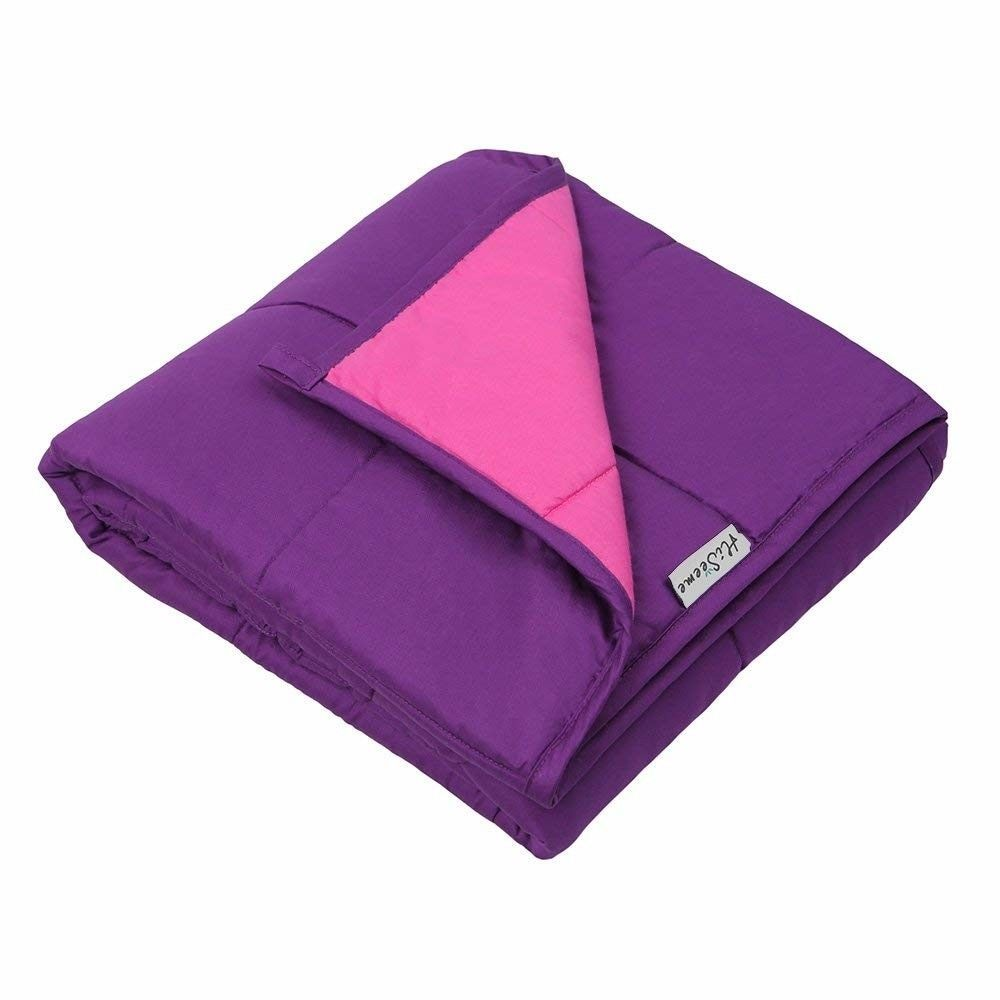 15lbs Large 41 X60 Weighted Blanket For Adults Kids