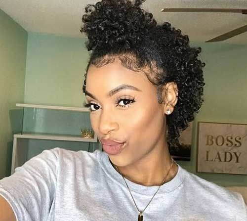 Natural Short Hair Ideas For Cute Ladies Curly Hair Styles