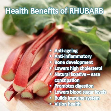 Health Benefits of Rhubarb - Vegetarian Friend | Rhubarb ...