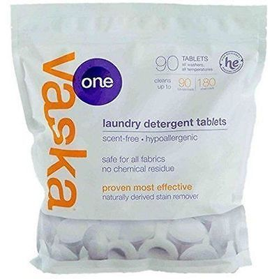 Vaska One Scent Free Laundry Tablets 90 Per Pack G4 Laundry Detergent Laundry Allergies