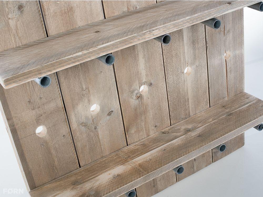 Wohnideen Büro Im Wohnzimmer holz regalsystem mit metallstreben hergestellt aus bauholz küche