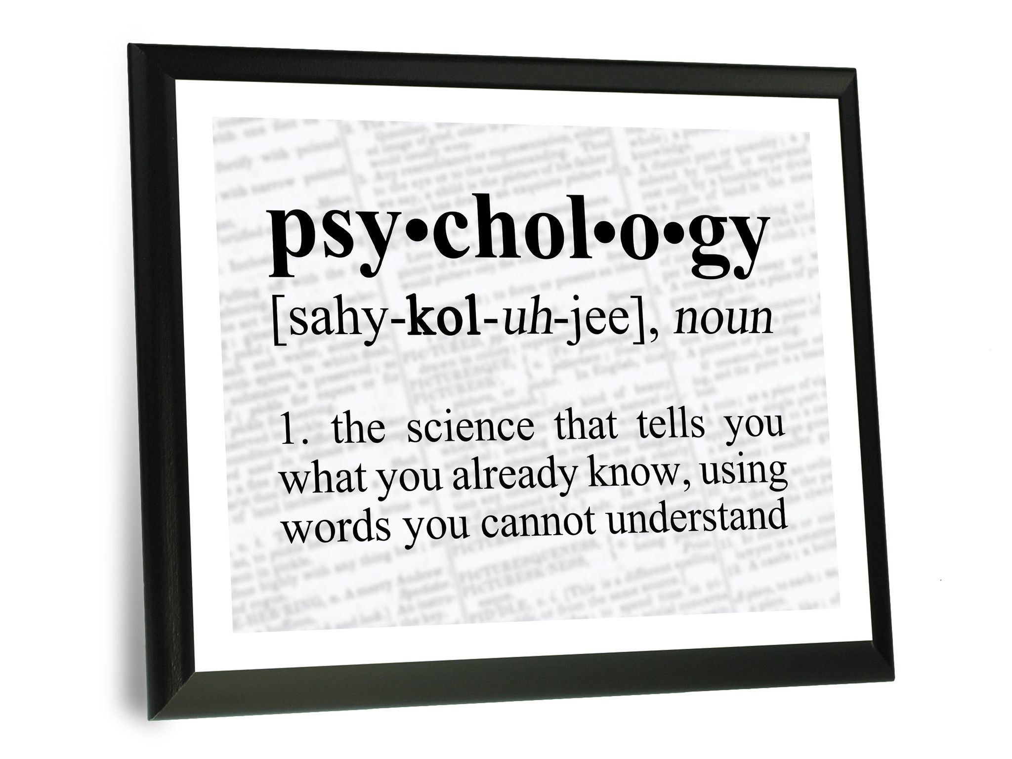 Psychology Definition Funny Typography Wall Plaque 9x12