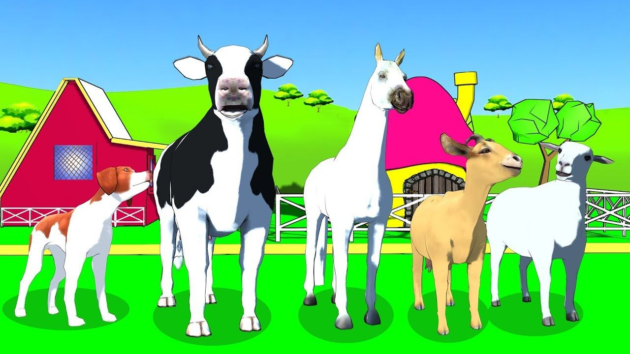 Farm animals name and sound , Learn Domestic Animals