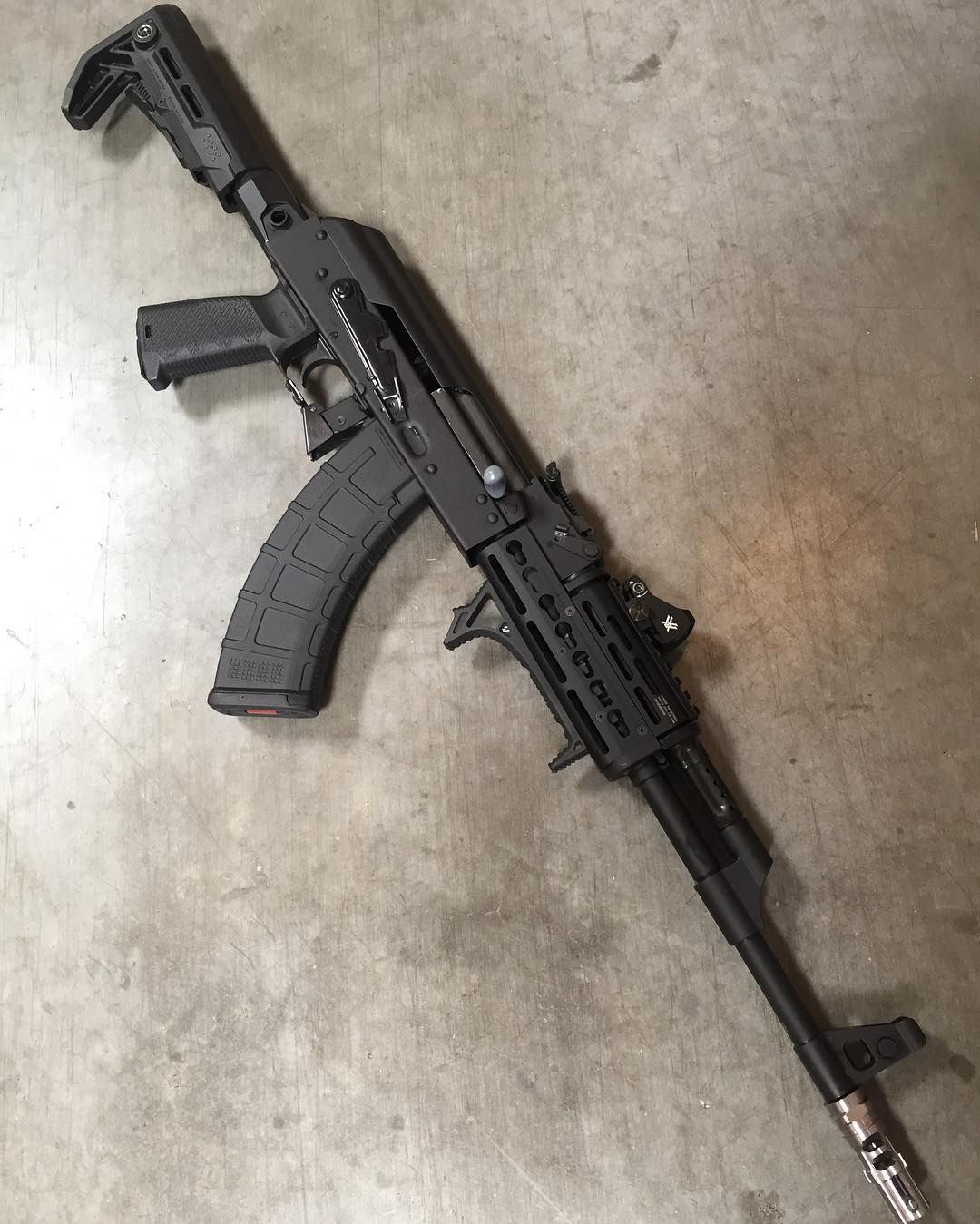 Century Arms AK dressed up in Strike Industries furniture  A