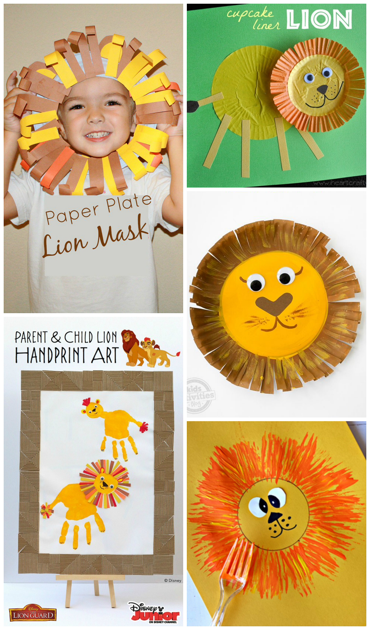 Adorable Lion Crafts For Kids To Make Using Paper Plates