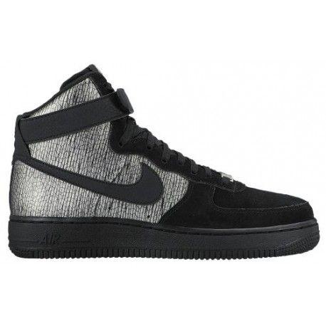 Nike Air Force 1 High - Women s - Basketball - Shoes - Metallic Silver Black-sku 54440003   dec9bf024