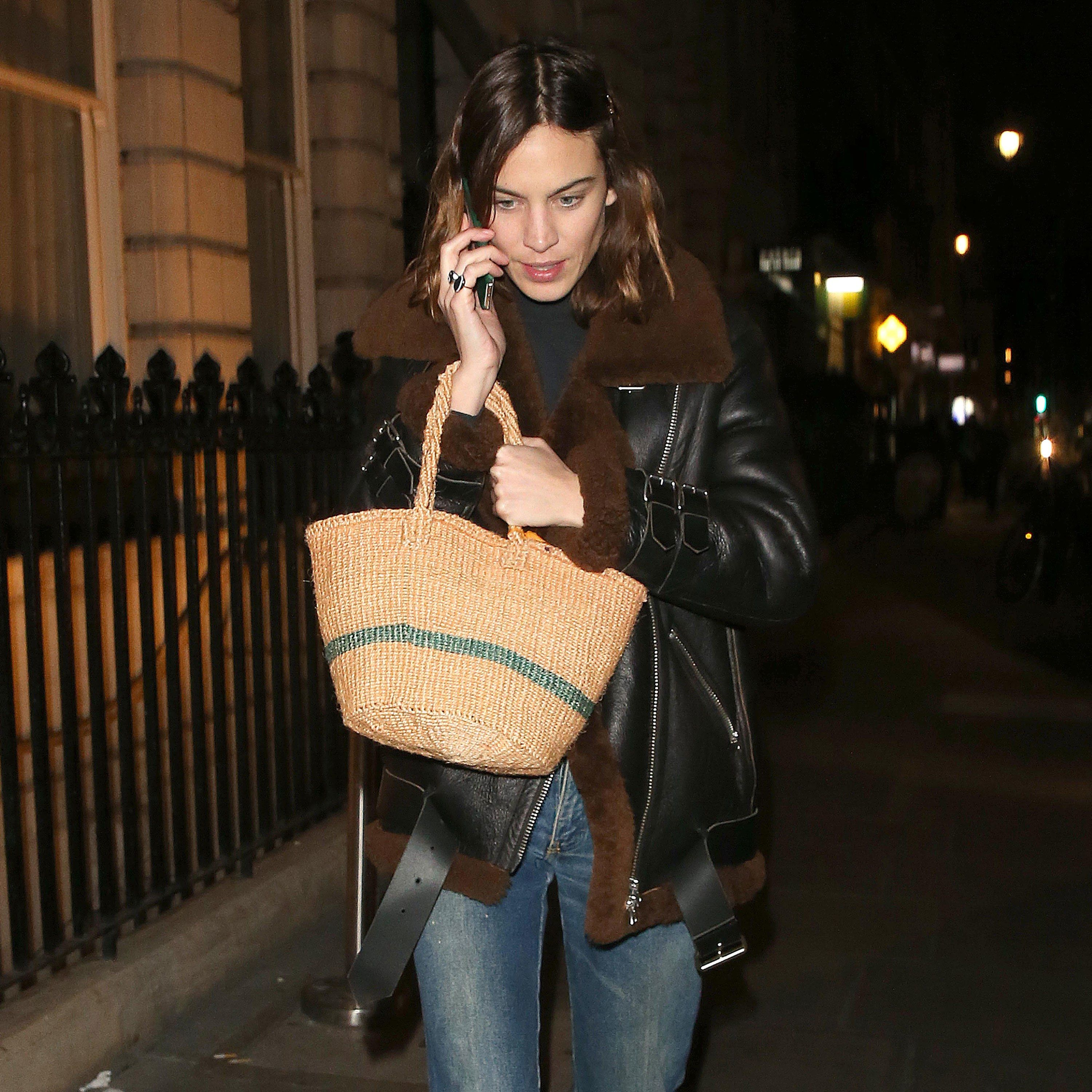 14d3e7bfc95c Alexa Chung s Straw Tote Bag Is a Style Move Jane Birkin Would ...