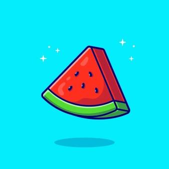 Slices Of Watermelon Cartoon Vector Icon Illustration Food Fruit Icon Concept Flat Cartoon Style Di 2021