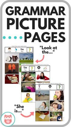 Target early grammatical structures with these grammar picture pages. Perfect preschool speech therapy activity. Tons of visuals. From Speechy Musings.