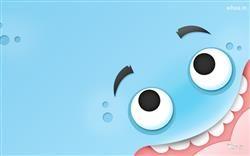 Blue Monster Funny Face Hd Wallpaper Funny Cartoon Wallpaper