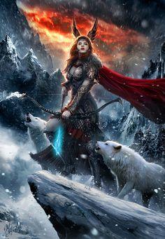 Skadi Goddess of North by DusanMarkovic.deviantart.com on @DeviantArt