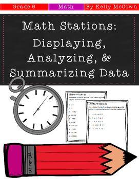 Middle School Math Stations: Displaying, Analyzing, and Summarizing Data