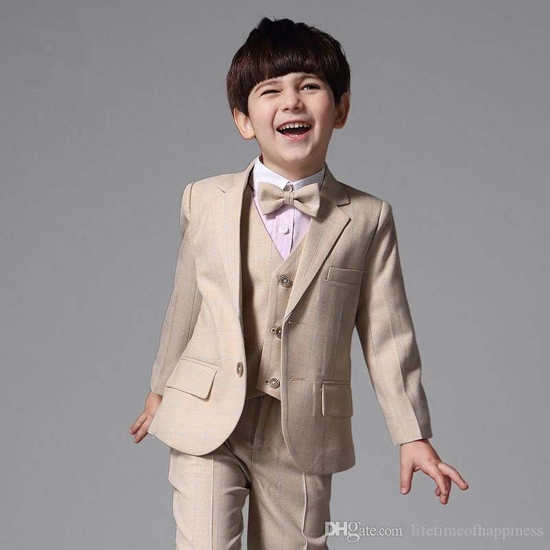 Kids Casual Suits Ball Party Tuxedos Jacket+Pants In Custom Size Page Boy Suits