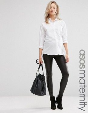 fc61014d1fc568 ASOS Maternity Leather Look Croc Leggings | Hot Mama STYLE | Asos ...