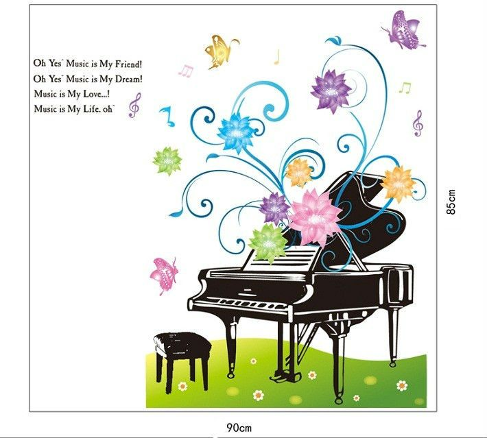 childrens music rooms | 3d stereoscopic piano cartoon cute children s room nursery music