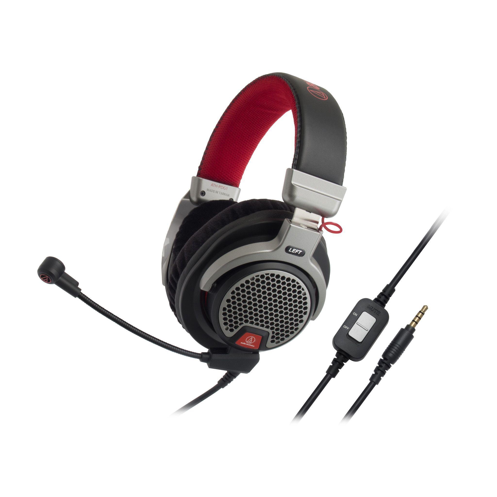 Audio Technica Ath Pdg1 Premium Gaming Headset Gaming Headphones Video Game Headset Gamers Headphones Audio Technica Headphones Headset Audio Technica