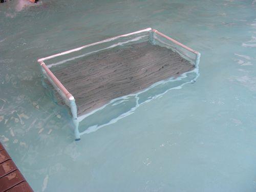 Toddler pool training platform outdoor pool deck plans - Above ground pool platform ...