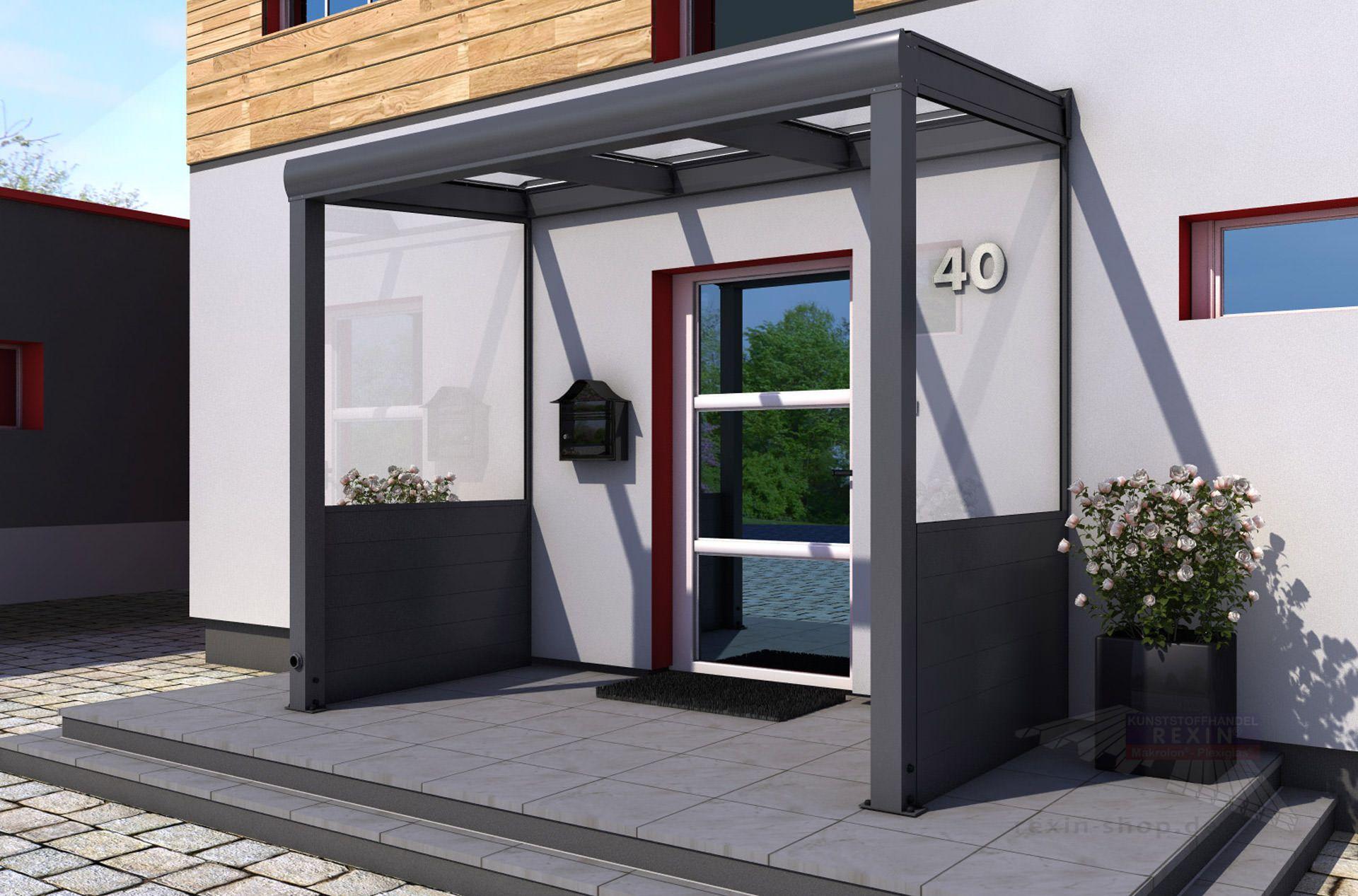 Haustürvordach Mit Seitenteil noch mehr schutz vor wind und wetter mit rexovita seitenwänden
