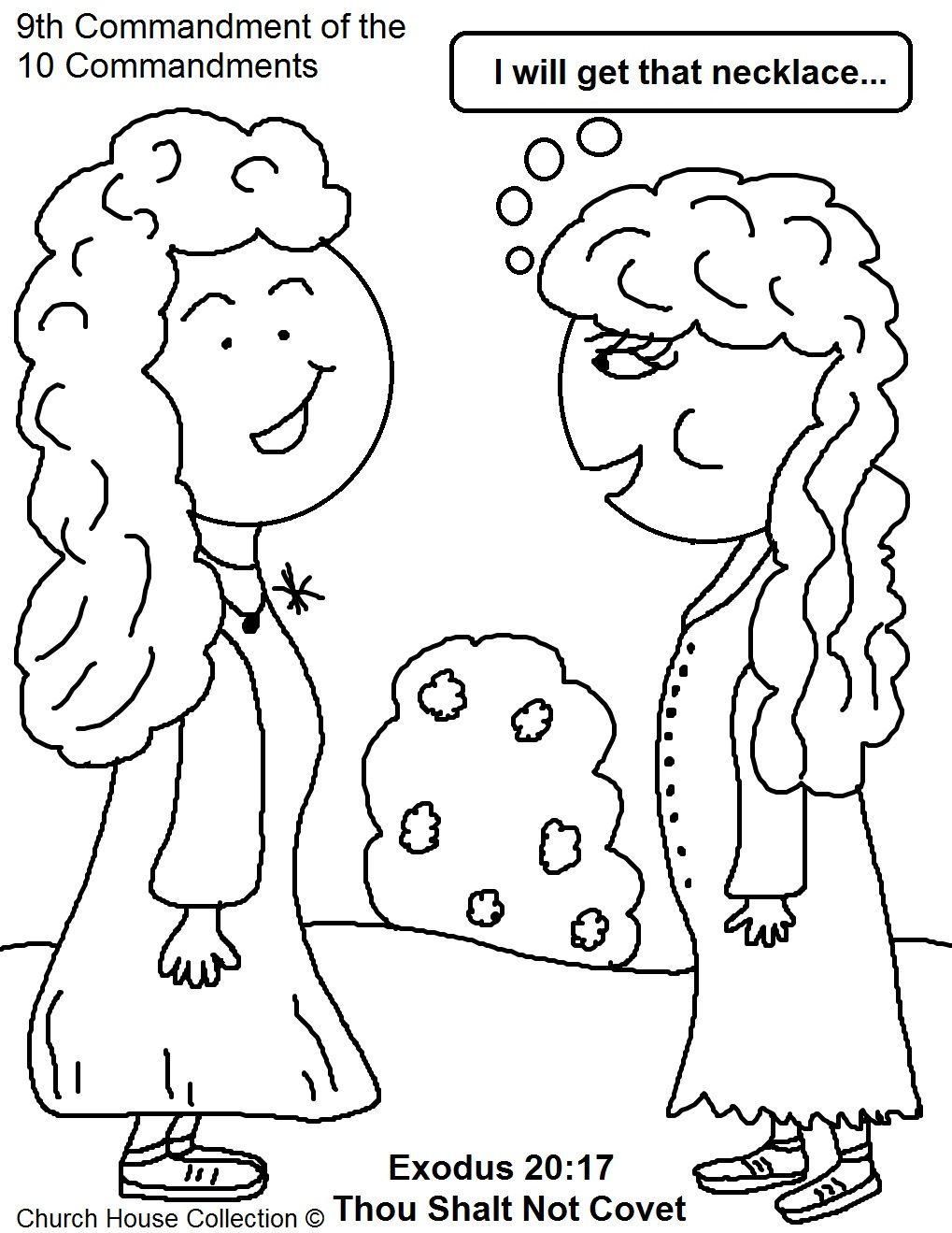 commandment page ten coloring sheets blog thou shalt not covet coloring