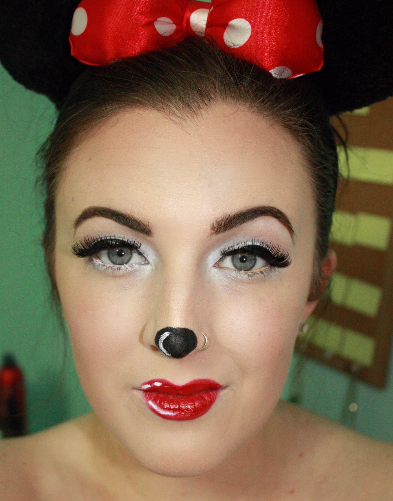 minnie mouse halloween makeup tutorial holidays pinterest. Black Bedroom Furniture Sets. Home Design Ideas