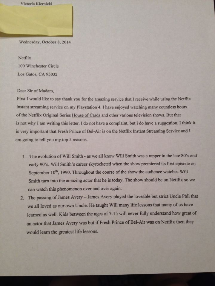 My Letter To Netflix About Fresh Prince Of Bel Air 1 Of 2 Netflix Instant Prince Of Bel Air Fresh Prince Of Bel Air