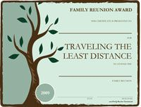 photograph regarding Free Printable Family Reunion Certificates identify Employ this sort of free of charge printable awards for enjoyable family members reunion