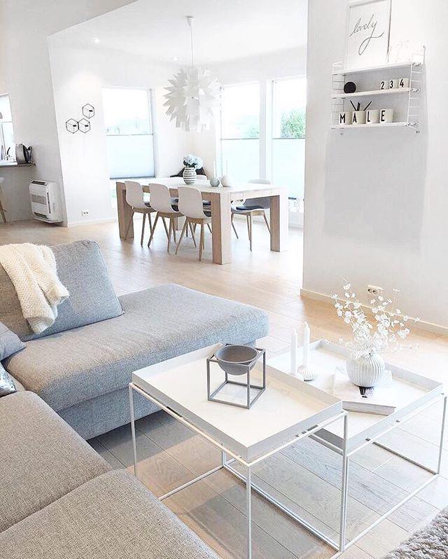 Un intérieur à la #déco scandinave ! #blanc #beige #tendance