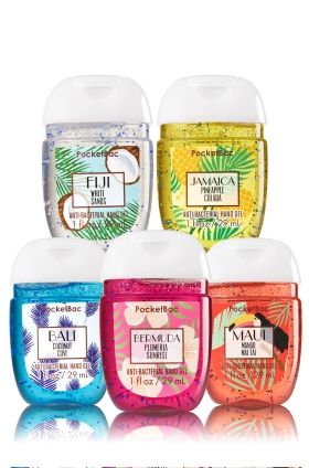 Destinations 5 Pack Pocketbac Sanitizers Bath Body Works