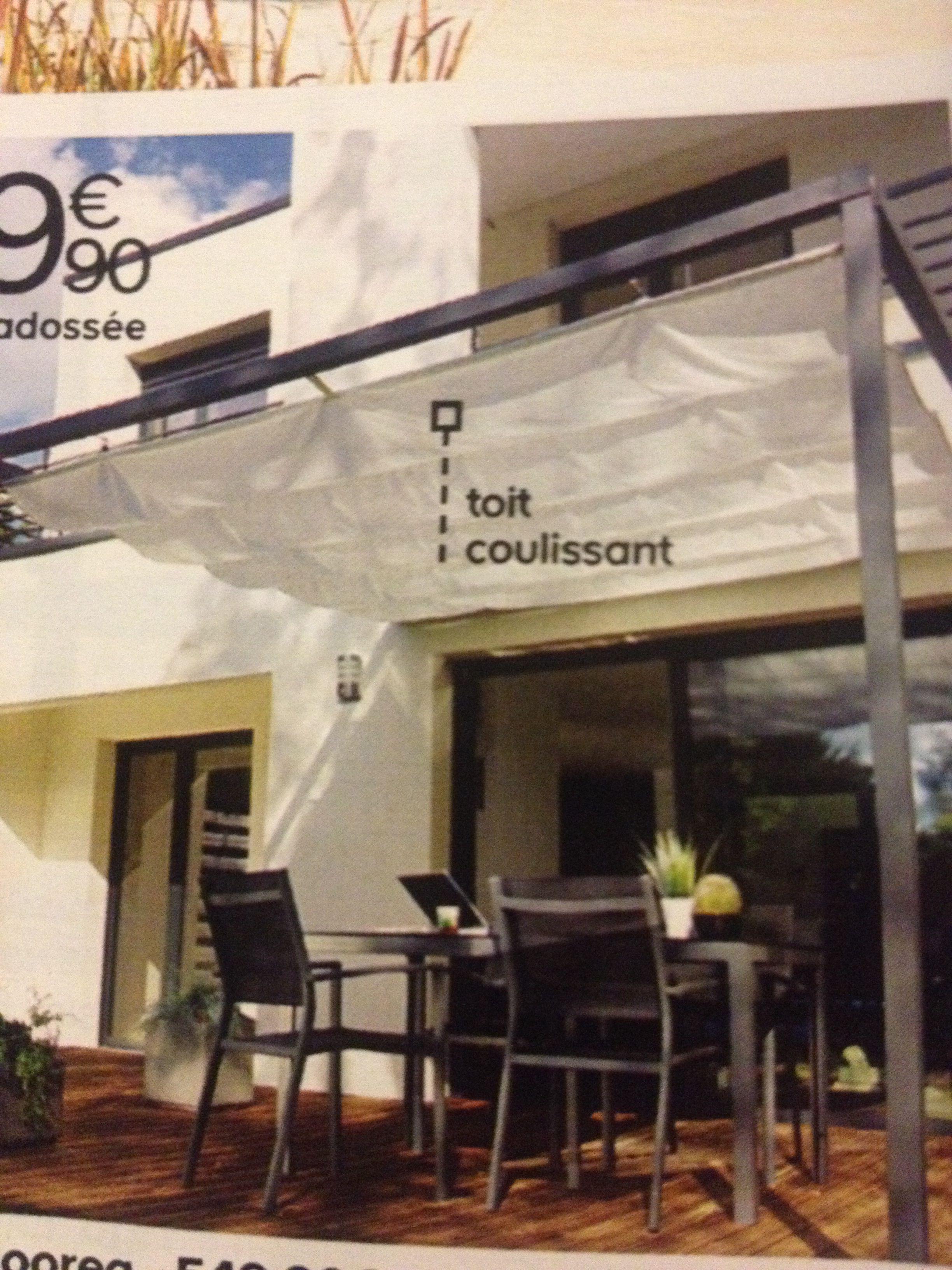 tonnelle adoss e 300 chez castorama veranda tonnelle adoss e castorama et maison. Black Bedroom Furniture Sets. Home Design Ideas